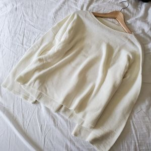 Sweaters - Loose knit cream sweater
